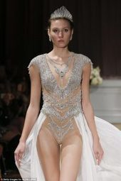 Would you wear a bejewelled LEOTARD on your big day? | magazinetoday | Scoop.it