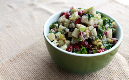 Kale Tabbouleh with Walnuts, Apples, and Pomegranate | SALADS | Scoop.it