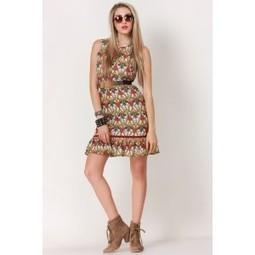 Beige & Yellow Geometry Peplum Dress   Online shopping for women   Scoop.it