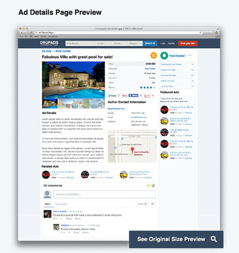 DrupAds - Drupal 7 Classified Ads Responsive Theme | Themesnap.com | Classified | Scoop.it