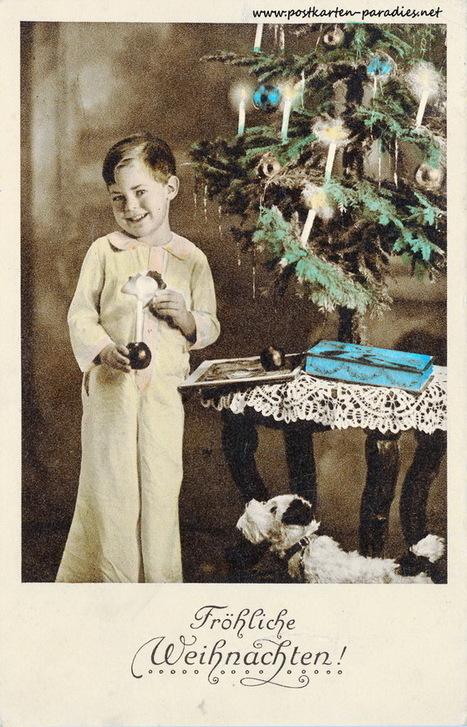 Alte Weihnachtskarten mit Frauen, Mädchen, Familien | gaidaphotos | Scoop.it