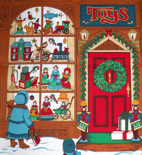 Christmas Toy Store : Cotton quilting christmas toy store panels co