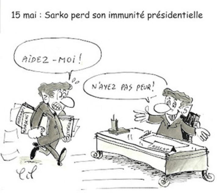Sarko perd son immunité présidentielle | Baie d'humour | Scoop.it
