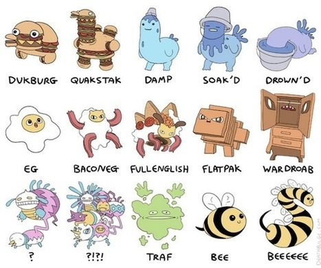 Artist spoofs evolution of Pokémon in comical illustrations | D_sign | Scoop.it