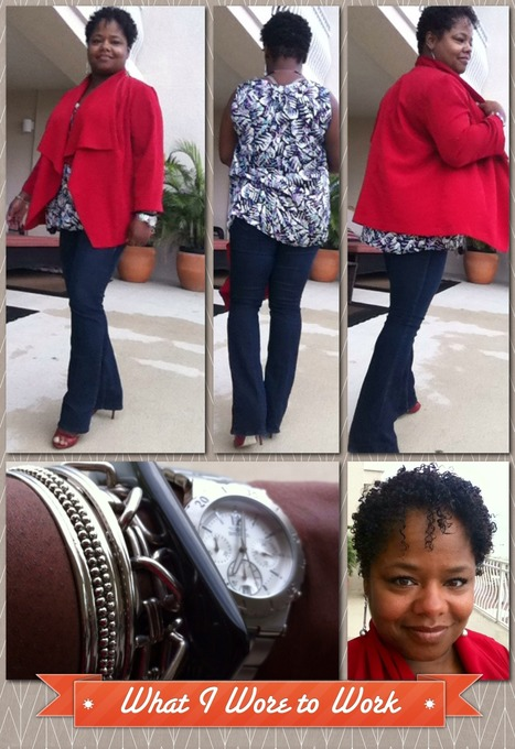 what i wore to work   a little red andblack - styleosophy -   styleosophy   Scoop.it