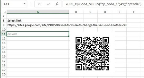 Generate QR code with google chart API using UDF in Excel - E90E50fx | FrankensTeam's Excel Collection | Scoop.it