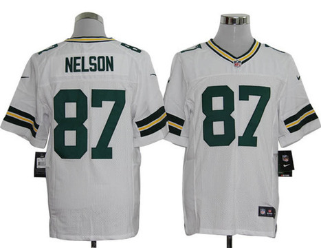 Green Bay Packers #87 Nelson Elite Jersey-White | Green Bay Packers Jersey | Scoop.it