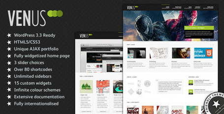 Venus: Business & Portfolio WordPress Theme | Premium Wordpress Themes | Scoop.it