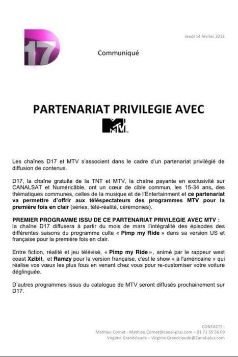Twitter / D17TV: Les chaînes #D17 et #MTV ... | Toute l'actu du Broadcast | Scoop.it