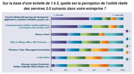 Les outils 2.0 séduisent les collaborateurs mais pas les entreprises françaises | Les réseaux sociaux en entreprise | Scoop.it