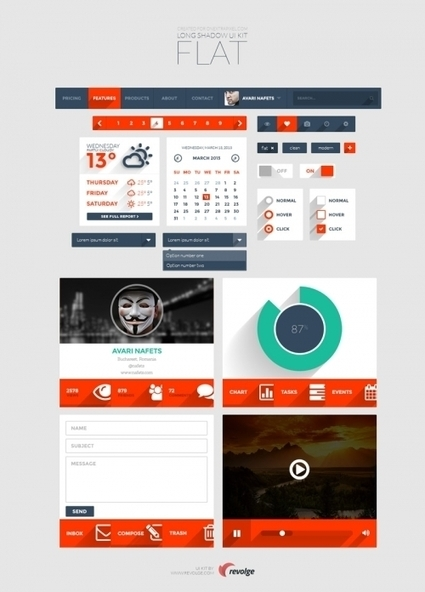 Free: a set of UI- elements with long shadows – 2experts Web Blog | Epic Design Resources | Scoop.it