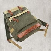 Large leather and canvas backpack with buckle | personalized canvas messenger bags and backpack | Scoop.it