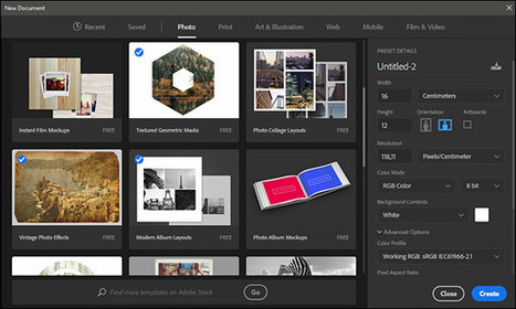 What's New in New Document Dialog in Photoshop CC 2017 (Video) | Adobe Creative Cloud | Scoop.it
