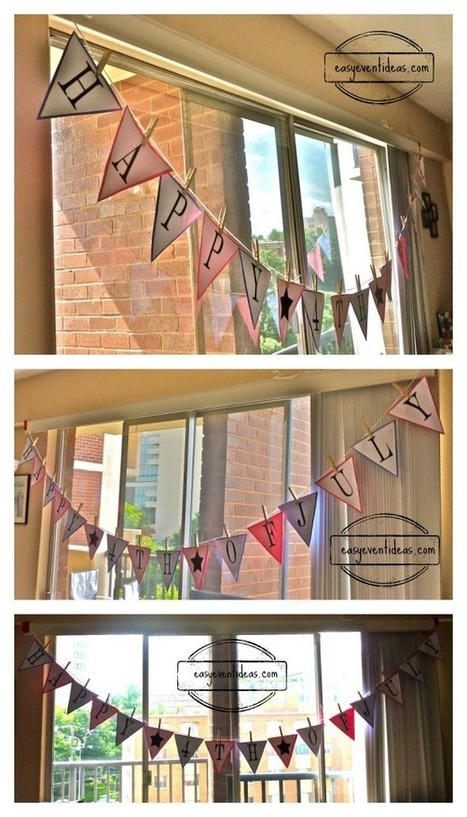 Do it yourself 4th of July Banner | Event Planning | Scoop.it