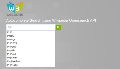 Autocomplete Search using Wikipedia API and jQuery UI | W3lessons | Scoop.it