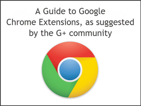 Google Chrome Extensions - as Suggested by the Google+ Community! - Plus Your Business | Apps for productivity in teaching | Scoop.it