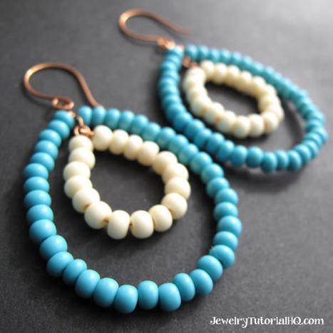 Diy Beaded Hoop Earrings + Bead Giveaway | 1001 Creative ideas ! | Scoop.it