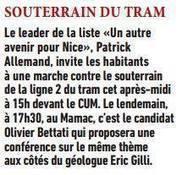 Patrick Allemand invite les habitants à une marche contre le souterrain   Nice 2014, Un autre Avenir pour Nice avec Patrick Allemand   Scoop.it