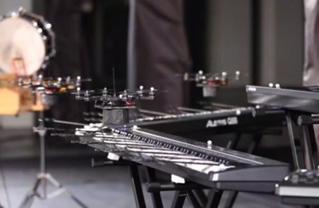 Squadron Of Quadcopter Drones Play Space Odyssey Theme (video) - Geeky gadgets | DailyDrones | Scoop.it