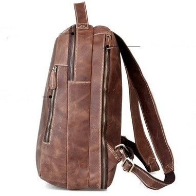 Distressed brown leather hiking rucksacks pack unisex by Ubackpack   personalized canvas messenger bags and backpack   Scoop.it
