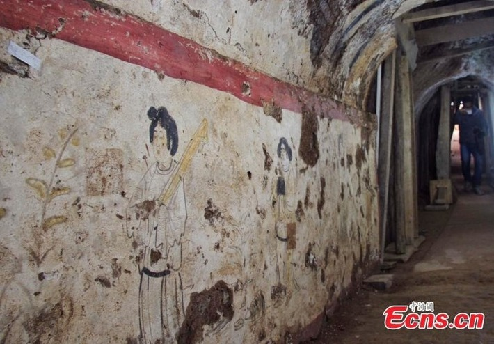 Earliest landscape mural of Tang Dynasty unearthed | Archaeology News Network | Asie | Scoop.it