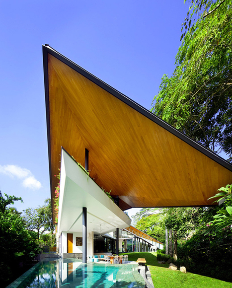 Modern Trapezium House Inspired by Traditional Malay Architecture | Extreme Architecture | News, E-learning, Architecture of the future at news.arcilook.com | Architecture news | Scoop.it