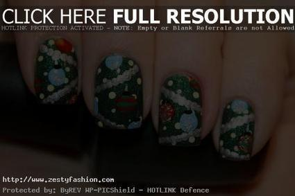 20 Colorful Christmas Nail Art Designs For Girls - Zesty Fashion | nail art | Scoop.it