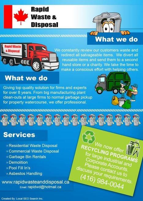 Rapid Waste & Disposal Infographic: Quality Waste Disposal Solution in Toronto | Waste Disposal Guide | Scoop.it