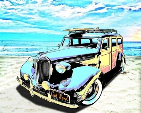 Plymouth Woody Early in Morning by the Sea | VivaChas!  Hot Rod Art | Scoop.it