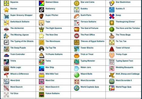 Free Technology for Teachers: 200+ Novel Games for Your Classroom Website | marked for sharing | Scoop.it