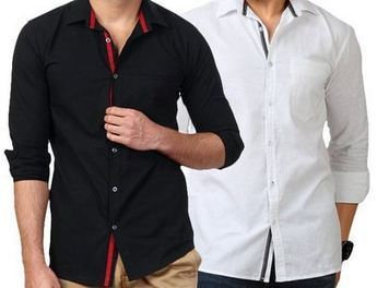 ~ Street Junkies Pack of 2 White-Black Shirts at Rs. 669 ~ 53% off | Daily Deal & Coupons: MagicDeal.in | Scoop.it