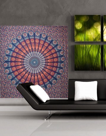Cotton Marsala Floral Printed Mandala Tapestry | Fashion & Accessories | Scoop.it