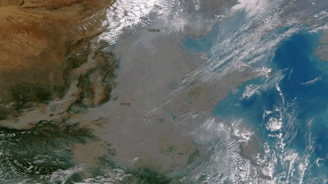 L'immense nuage de pollution en Chine visible depuis l'espace | Enseñar Geografía e Historia en Secundaria | Scoop.it