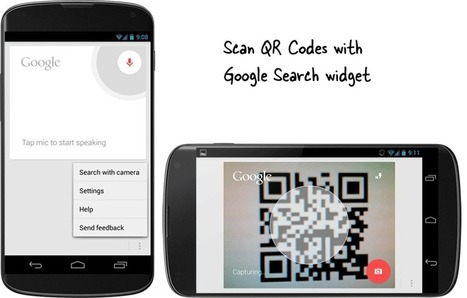 Scan QR Codes with the Google Search Widget on Android | Daily Magazine | Scoop.it
