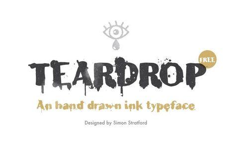 Teardrop typeface free otf font download | My Typefaces | Scoop.it