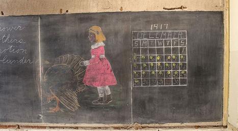 Workmen uncover haunting 100 year old chalkboards in school   Primary History - Australian Curriculum Topics   Scoop.it