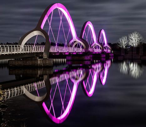 Solvesborg Bridge Lighting Design | pour thp | Scoop.it