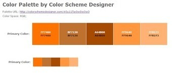 Color Scheme Designer: tria colors disseny web |Apunts Digitals | ApuntsDigitals | Scoop.it
