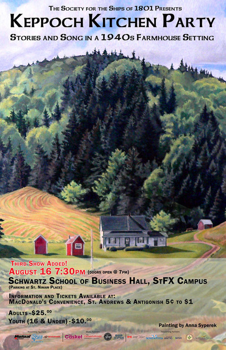 *NEW SHOW: Tuesday, 16-August – Keppoch Kitchen Party | Antigonish | Scoop.it