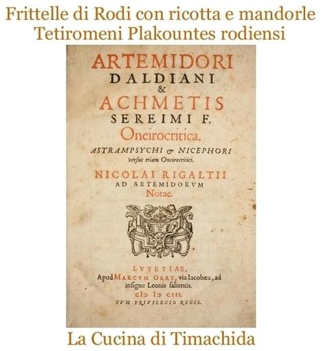 Tetiromeni Plakountes rodiensi. Frittelle di Rodi con ricotta e mandorle | La Cucina di Timachida | Scoop.it
