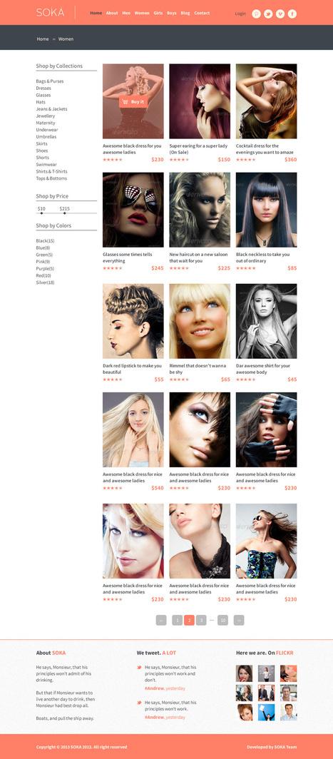 SOKA - Fashion Online Shop PSD Web Template | Premium Website Template | Scoop.it
