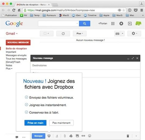 Dropbox pour Gmail teste son installation automatique dans Chrome | Geeks | Scoop.it