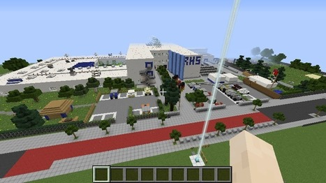Thorsten Groß's students conduct tour of Ricarda-Huch-Schule for EVO Minecraft MOOC | Learning2gether | Scoop.it