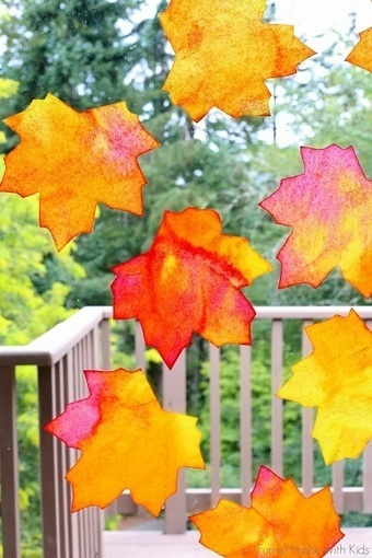 Leaf Suncatchers | Craftspo | Scoop.it