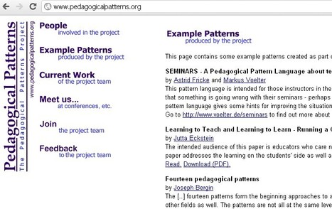 The Pedagogical Patterns Project | Inclusive teaching and learning | Scoop.it
