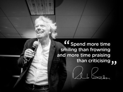 Spend more time smiling - Virgin.com | Internal Comms. Engaging people @ work | Scoop.it