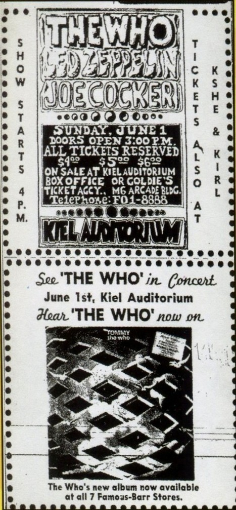 The Who - Flyers, Posters and Ticket Stubs - Retronaut | Reeling in the Years | Scoop.it