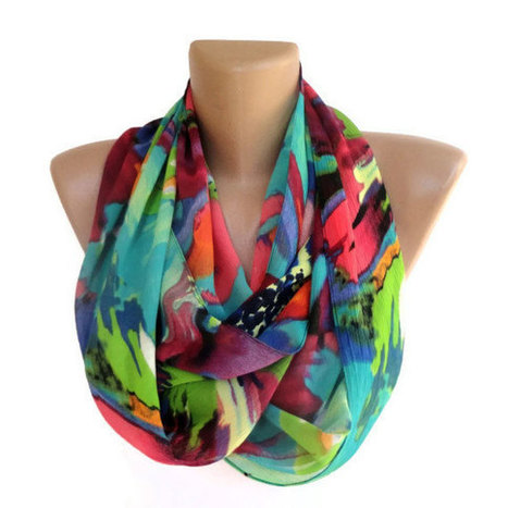 neon infinity scarf ,women scarves ,summer , scarf , spring fashion accessories . girly , chiffon scarves . ALL TREND COLORS | scarf | Scoop.it