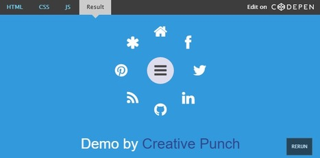 Making an animated radial menu with CSS3 and JavaScript | Information Technology & Social Media News | Scoop.it