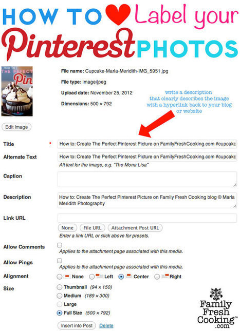 How to Create the Perfect Image for Pinterest on FamilyFreshCooking.com — Family Fresh Cooking | Pinterest | Scoop.it